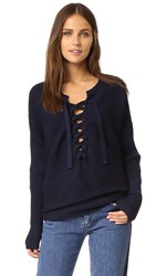 Designers Remix Ribly String Lace Up Sweater Navy