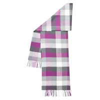Hobbs Suzie Check Scarf Lunaberry Purple