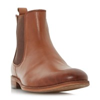 Dune Montpelier Round Toe Chelsea Boot Tan