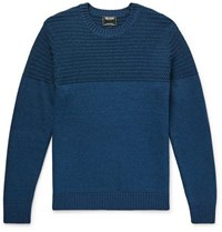 Todd Snyder Slim Fit Cotton Blend Sweater Blue