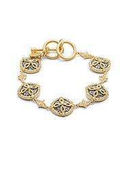 Freida Rothman Cubic Zirconia And 14K Yellow Gold Plated Bracelet
