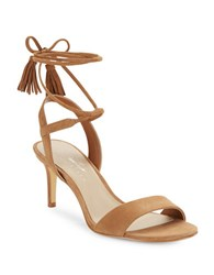 424 Fifth Giovanna Suede Sandals Burnt Amber