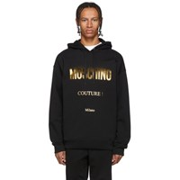 Moschino Black And Gold Couture Hoodie