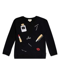 Kate Spade Glamour Collage Sweatshirt Black