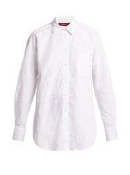 Sies Marjan Sander Crinkled Cotton Blend Shirt White