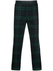 Golden Goose Tartan Print Straight Leg Trousers Black