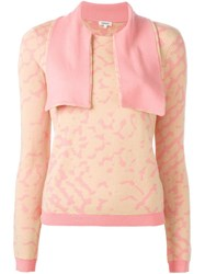 Manoush Collar Detail Jumper Pink And Purple