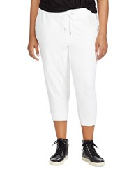 Lauren Ralph Lauren Plus Cropped Skinny Sweatpants White