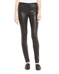 Theory Adbelle L2 Bristol Leather Leggings Black