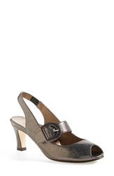 Anyi Lu 'Tulip' Slingback Pump Women Pewter Metallic