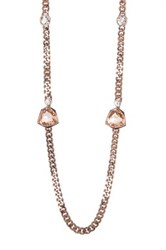 Givenchy Crystal Strand Necklace Brown