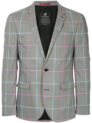 Loveless Check Single Breasted Blazer Grey