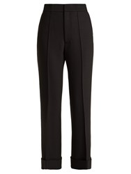 Helmut Lang Turn Up Cuff Flared Trousers Black