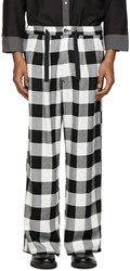 Kidill Black And White Wide Leg Trousers