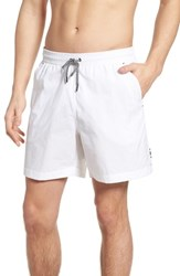 Danward Solid Swim Trunks White
