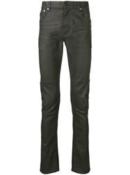 Belstaff Waxed Slim Jeans Green