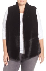 Plus Size Women's Tart 'Kya' Faux Fur Vest Black