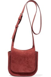 The Row Hunting 7 Suede Shoulder Bag Brick
