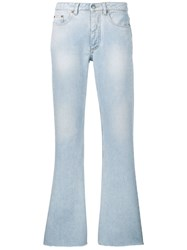 Maison Martin Margiela Mm6 Denim Bootcut Jeans Blue