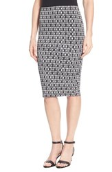 Women's Vince Camuto 'Diamond Phrase' Print Midi Tube Skirt