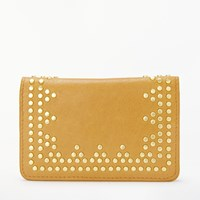 And Or Isabella Leather Card Holder Ochre