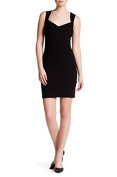 French Connection Lula Sweetheart Bodycon Dress Black