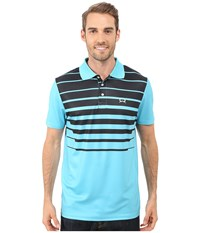 Cinch Athletic Tech Polo Striped Blue Men's Clothing