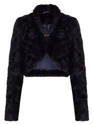 Phase Eight Katya Fur Jacket Midnight