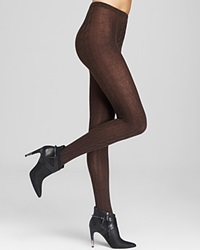Hue Chunky Cable Knit Sweater Tights Espresso