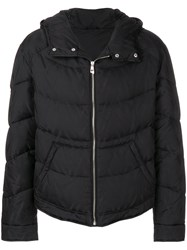 Versace Collection Hooded Padded Jacket Feather Down Polyamide Polyester Black