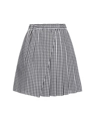No.21 Gingham Pleated Panel Skirt