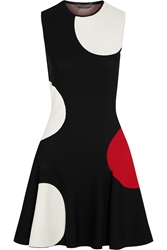 Alexander Mcqueen Polka Dot Intarsia Stretch Knit Mini Dress