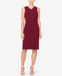 Catherine Malandrino Peplum Sheath Dress Zinfandel
