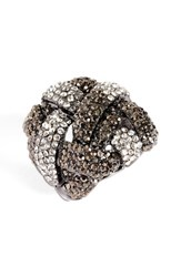 Natasha Couture Women's Woven Crystal Stretch Ring