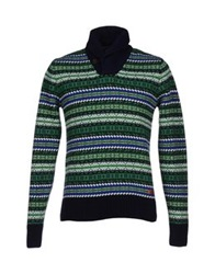 Franklin And Marshall Sweaters Green