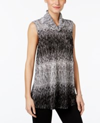 Alfani Printed Cowl Neck Top Only At Macy's Black White Ombre