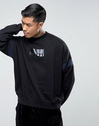 Antioch Sleeve Panel Sweater Black