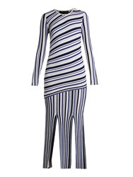 Tabula Rasa Theia Long Sleeved Striped Dress Blue Multi