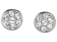 Lauren Ralph Lauren Small Round Crystal Studs Silver Crystal Earring
