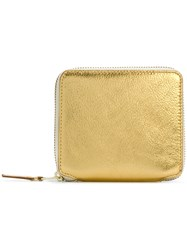 Comme Des Garcons Wallet All Around Zipped Purse Leather Metallic