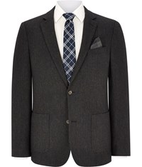 Austin Reed Brown Nep Herringbone Blazer