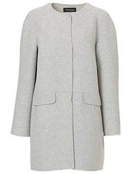 Betty Barclay Collarless Coat Light Grey Melange