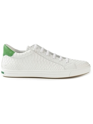 Dsquared2 Snakeskin Effect Sneakers White