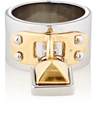 Rebecca Minkoff Women's Pyramid Lock Charm Ring No Color