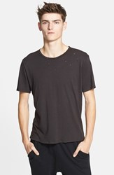 Men's Drifter 'Saferris' Distressed T Shirt Black