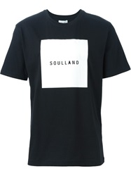 Soulland Soul Square Print T Shirt Black