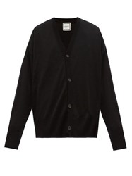 Wooyoungmi Oversize Four Button Wool Cardigan Black
