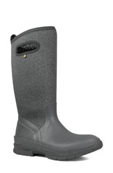 Bogs 'Crandall' Waterproof Tall Boot Dark Grey