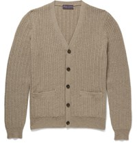 Ralph Lauren Purple Label Knitted Cahmere Cardigan Brown