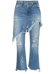 R 13 R13 Double Classic Shredded Jeans Unavailable